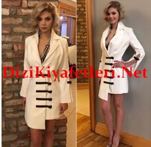 Dolunay 24 Bolum Demet beyaz elbise