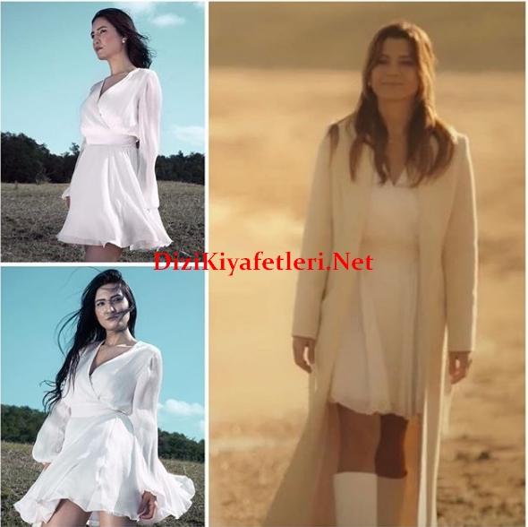 Ufak Tefek Cinayetler 11 Bolum Oyanin giydigi beyaz elbise