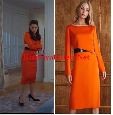 Yuvamdaki dusman 1 Bolum Yasemin turuncu elbise