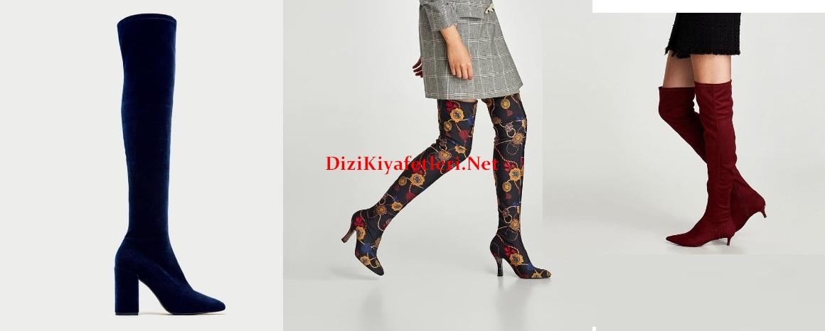 Zara corap cizme modelleri