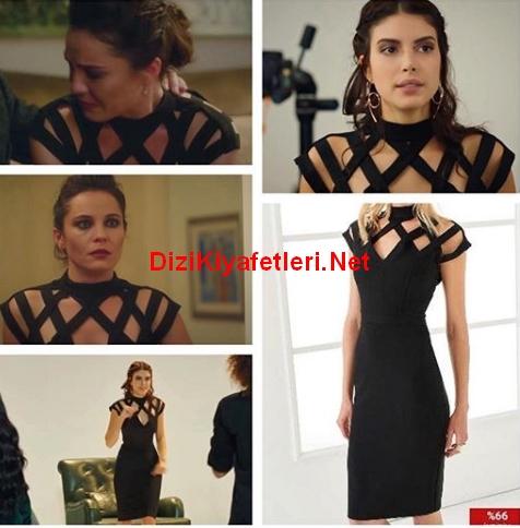 Fazilet Hanım ve Kızları 31 bolum Hazan siyah elbise