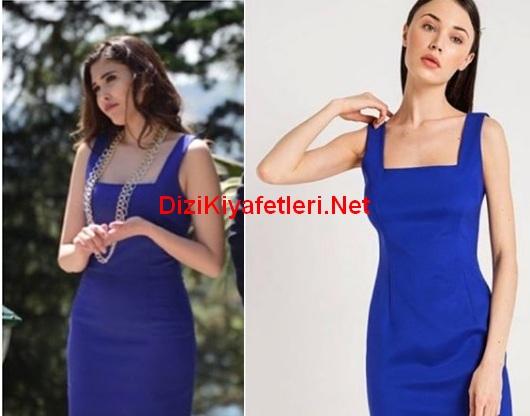 istanbullu Gelin 47 Bolum İpek mavi elbise