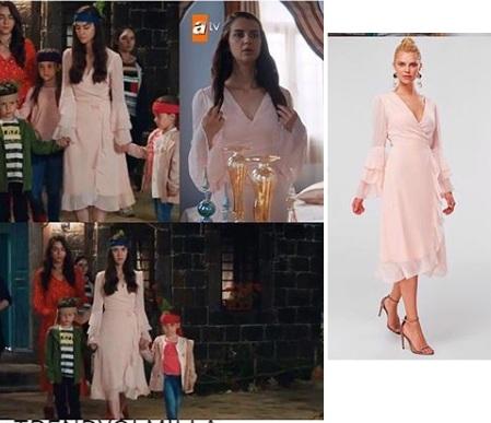 Sen anlat Karadeniz 19 Bolum Nefefs pudra elbise