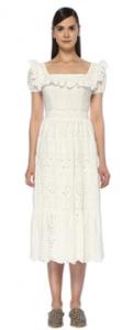 Serenays beyaz elbise