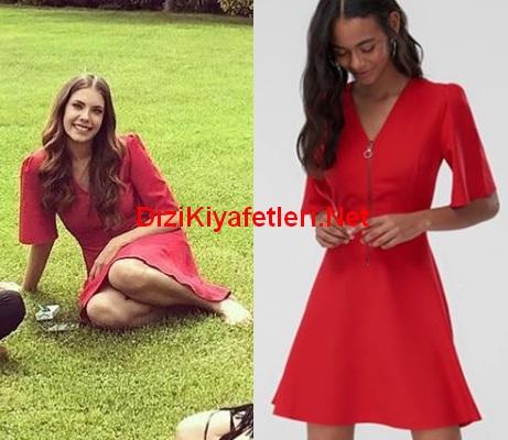 Yasak Elma 10 Bolum Zeynep kırmızı elbise