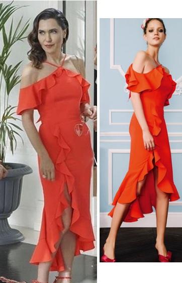 Yasak Elma 11 Bolum Ender kırmızı elbise