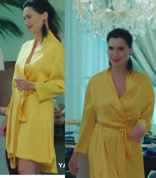 Yasak Elma 11 Bolum Ender sarı elbise