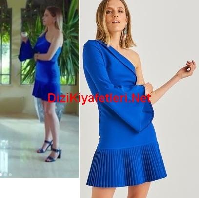 Yasak Elma 11 Bolum Yıldız mavi elbise