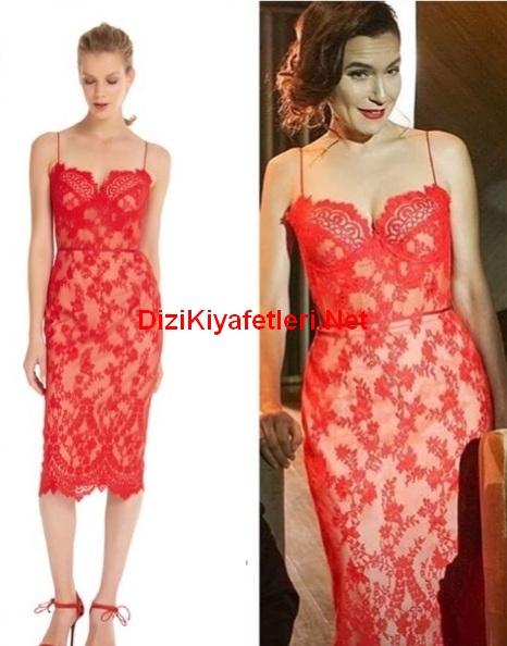 Yasak Elma 9 Bolum Ender kırmızı elbise