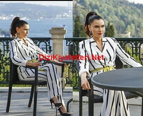 Yasak Elma Enderin 8 Bolumde giydigi siyah beyaz takim