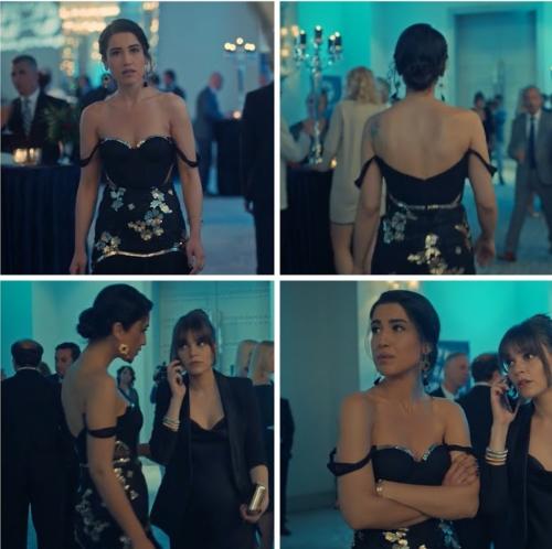 istanbullu Gelin 48 Bolum Dilara siyah elbise