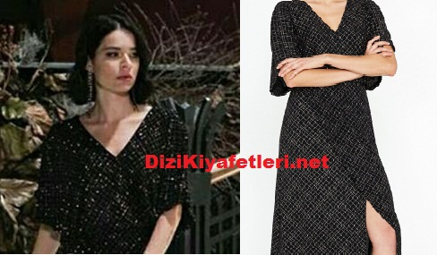 Yasak Elma Zehra siyah elbise