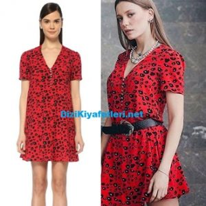 Serenay Sarıkaya kırmızı elbisesi