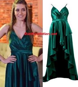Erkenci Kuş Leyla yeşil elbise