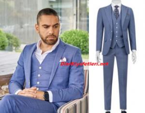 Vuslat Aziz mavi takım elbise