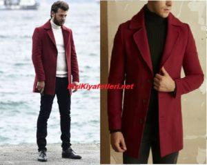 Vuslat Kerem bordo Palto markası