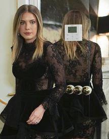 Yıldız siyah dantel elbise