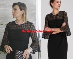 Zerrin siyah elbise