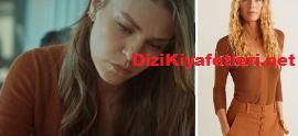 İstanbullu Geli Aslı Enver Kahverengi Bluz
