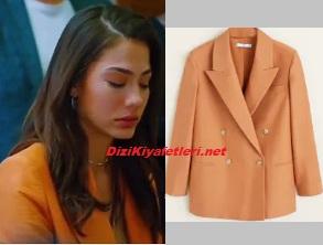 Demet Özdemir turuncu ceket