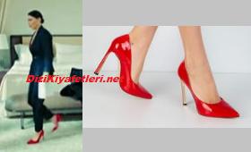 Yasak Elma Ender kırmızı topuklu ayakkabı