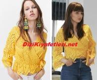 Yasak Elma Zeynep sarı bluz
