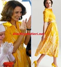 Bir Aile Hikayesi Reyyan sarı elbise