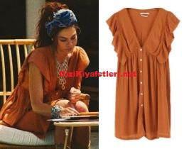 Demet Özdemir kahverengi elbise