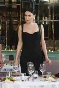 Ender Siyah Askılı Elbise