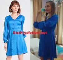 Erkenci Kuş Leyla mavi elbise