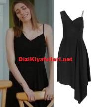 Erkenci Kuş Leyla siyah elbise