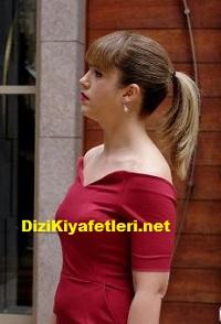 Kuzgun Şermin kırmızı elbise