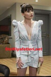 Yasak elma Zeynep gri mini elbise