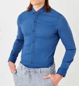 Afilli Aşk Kerem Mavi Gömlek