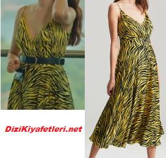 Burcu Özberk sarı elbise
