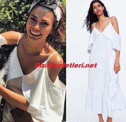 Demet Özdemir beyaz elbise