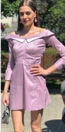 Erkenci Kuş Leyla lila elbise