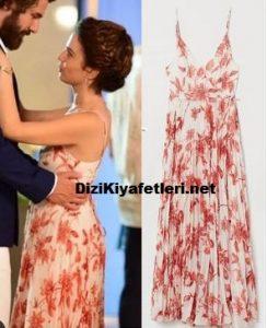 Benim Tatlı Yalanım Aslı kırmızı askılı elbise markası
