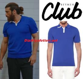 Can Yaman mavi tişört