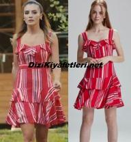 Kimse Bilmez Tuğçe kırmızı elbise