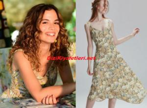Aslı Bekiroğlu çiçekli elbise