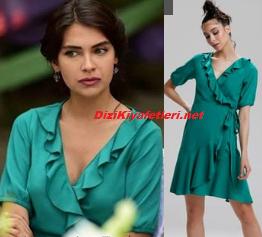 Canevim Ceylan yeşil elbise