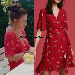 Demet Özdemir kırmızı elbise