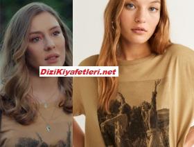 Benim Tatlı Yalanım Aylin kahverengi tişört