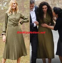 Hercai Reyyan yeşil elbise