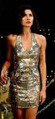 Nesrin Cavadzade ışıltılı elbise