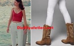 Yasak elma Lila beyaz pantolon