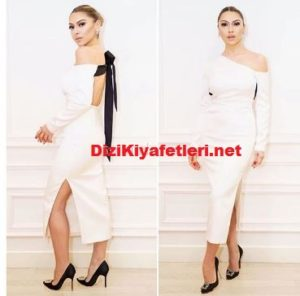 Hadise O ses final beyaz elbisesi