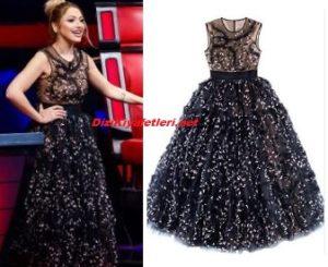 Hadise siyah elbise