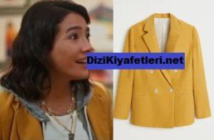 Her Yerde sen Aybuke Pusat Sarı Ceket markası